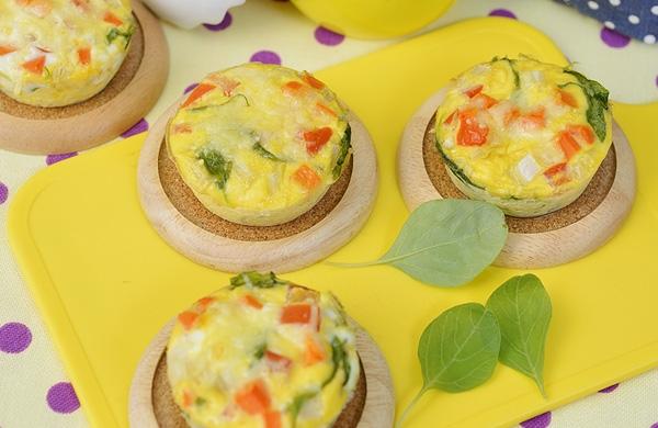 คัปเค้กไข่และผัก - Gourmet & Cuisine Magazine