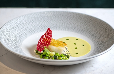 Black Cod with Green Curry White Wine Sauce