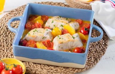 ปลาซอสส้มอบมะเขือเทศอร่อยดีมีประโยชน์