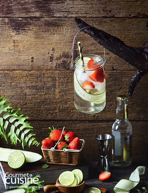 Strawberry and Cucumber Tonic