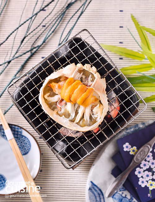 ปูซูวาอิย่างถ่านกับหอยเม่น