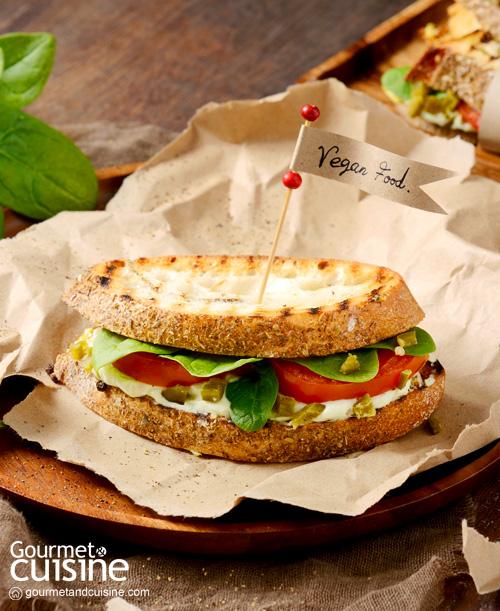 แซนด์วิชอะโวคาโดและถั่วขาว