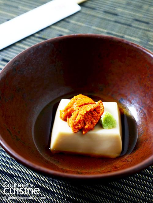 Homemade white sesame tofu