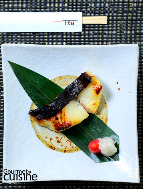 Grilled miso marinated silver cod fish