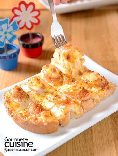 ขนมปังไส้กรอกไก่ชีส