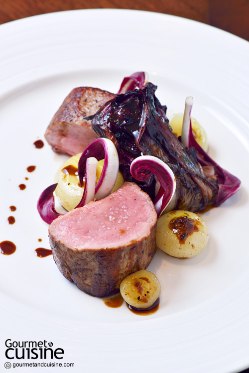 Roasted milk fed veal tenderloin