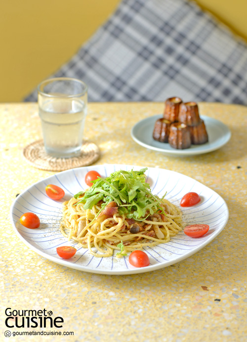 Mascapone Bacon Spaghetti