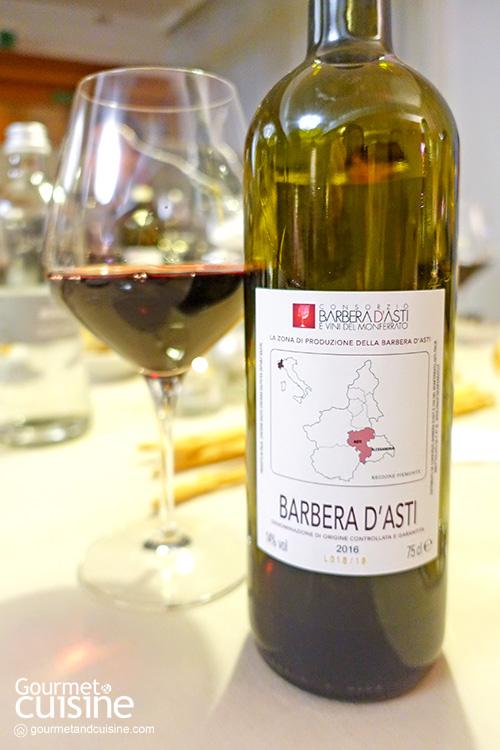 ไวน์แดง Brachetto d'Acqui และ Barbera