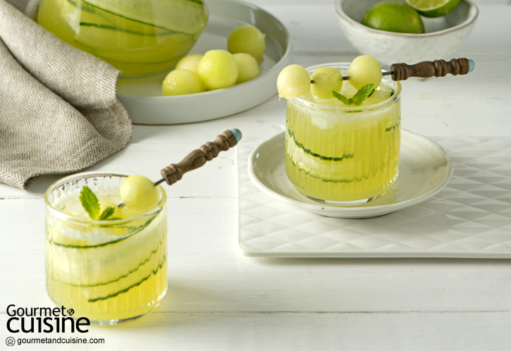 Japanese Cucumber & Melon White Sangria