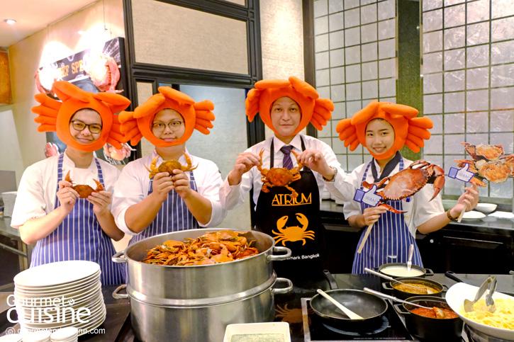 """""""มหกรรมปูไข่คลองโคน""""  โปรบุฟเฟต์ปูไข่แบบไม่อั้นจากห้องอาหารเอเทรี่ยม  โรงแรมแลนด์มาร์ค กรุงเทพฯ"""