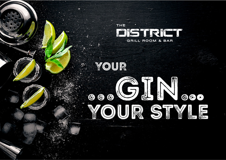 เชิญคุณมาสร้างสรรค์เครื่องดื่มจิน (Gin) ในแบบของคุณเอง ที่ห้องอาหารเดอะ ดิสทริคท์ กริลล์ รูม แอนด์ บาร์