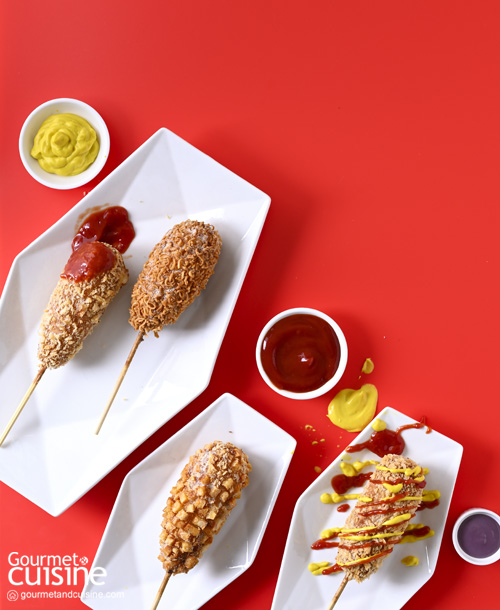 """Corn Dog"" ฮอตดอกสุดอร่อยสไตล์เกาหลี"