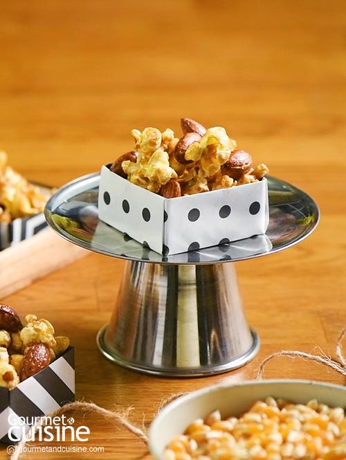 ป๊อปคอร์นอัลมอนด์คาราเมล (Almond Caramel Popcorn)