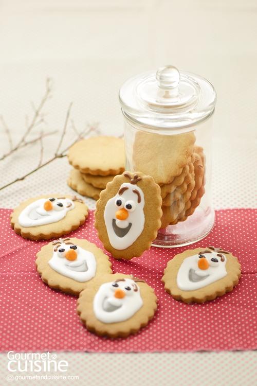 คุกกี้สโนว์แมน (Snowman Cookies)