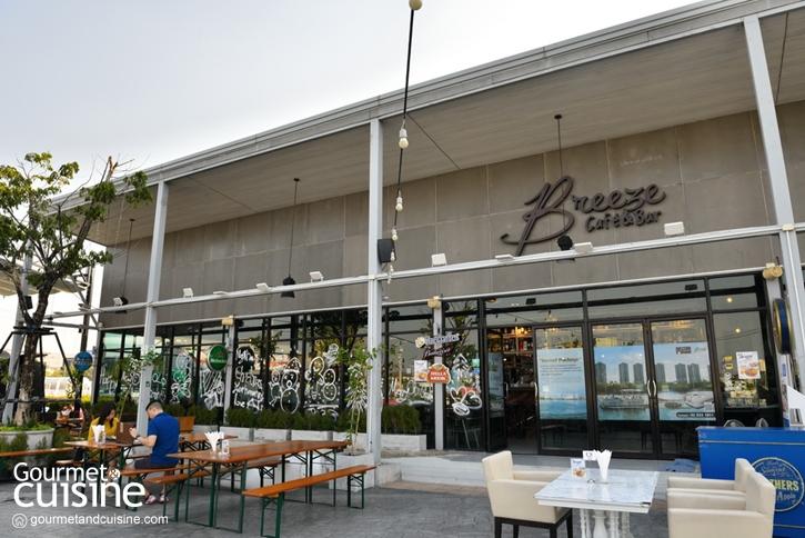 Breeze Café & Bar ร้านวิวสวยริมทะเลสาบเมืองทองธานี
