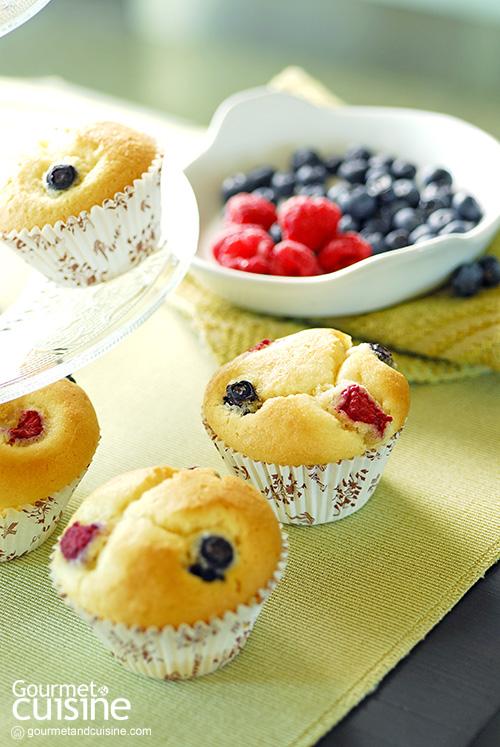 มัฟฟินเบอร์รี (Berry Muffin)