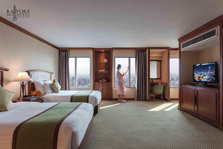 """""""Deluxe Lady Room"""" ลดทันที 50% เมื่อจองผ่านเว็บไซต์เฉพาะที่โรงแรมใบหยก สกาย"""