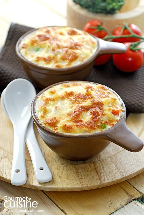 มักกะโรนีอบชีส (Baked Macaroni and Cheese)
