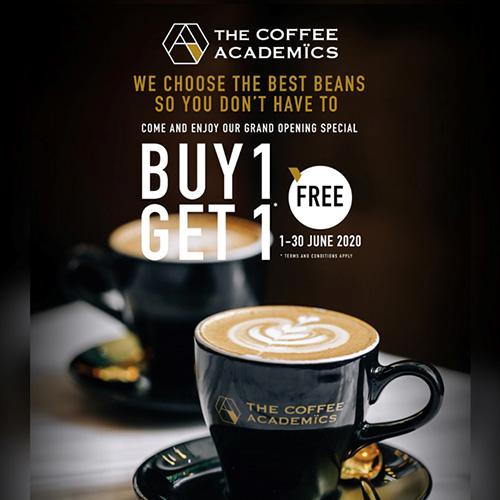 ร้านกาแฟน้องใหม่ในเกษรวิลเลจ The Coffee Academics พร้อมเอาใจ คอกาแฟทั้งหลายด้วยโปรโมชั่น 1 ฟรี 1