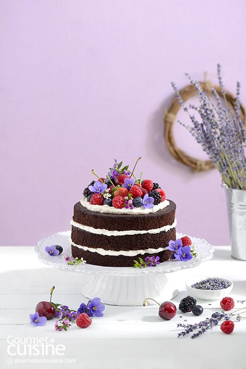 เค้กช็อกโกแลตเบอร์รี่