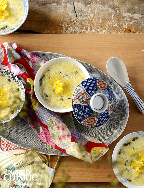ซุปไข่กับสาหร่าย
