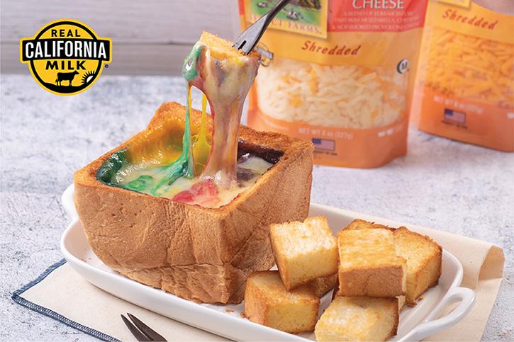 ขนมปังชีสสายรุ้ง
