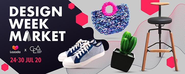 "Lazada และ CEA ชวนอุดหนุนผู้ประกอบการสินค้าดีไซน์ไทย ในงาน ""Design Week Market – Lazada x CEA"""