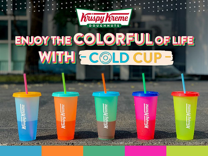 เพิ่มสีสัน ให้กับชีวิตในทุกๆ วัน ไปกับ Krispy Kreme Cold Cup