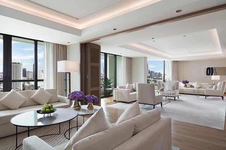 """โรงแรมสยามเคมปินสกี้ กรุงเทพฯ เปิดตัวห้องท็อปสวีทดีไซน์ใหม่ """"เพรสซิเดนท์เชียล เทอเรซ สวีท"""""""