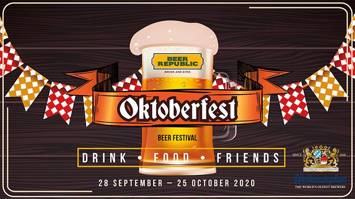 ร้านเบียร์รีพับบลิคเชิญชวนลิ้มรสอาหารและเครื่องดื่มสไตล์เยอรมัน  กับเทศกาล Oktoberfest Festival