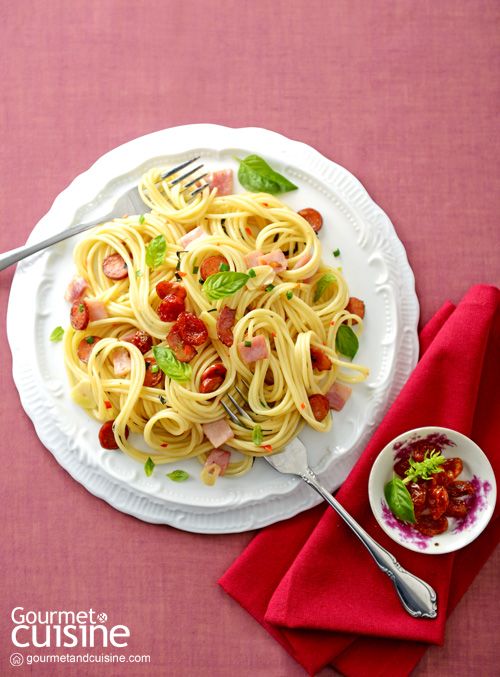 Spaghetti with Cabanossi