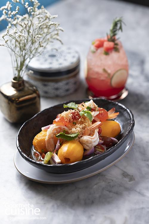 Marian Plum Spicy Salad with Prawns