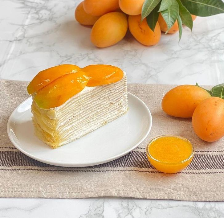 Marian Plum Crepe Cake