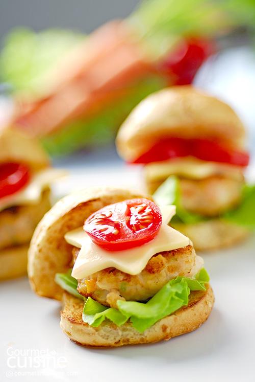 มินิเบอร์เกอร์ (Mini Burger Little Veggie)