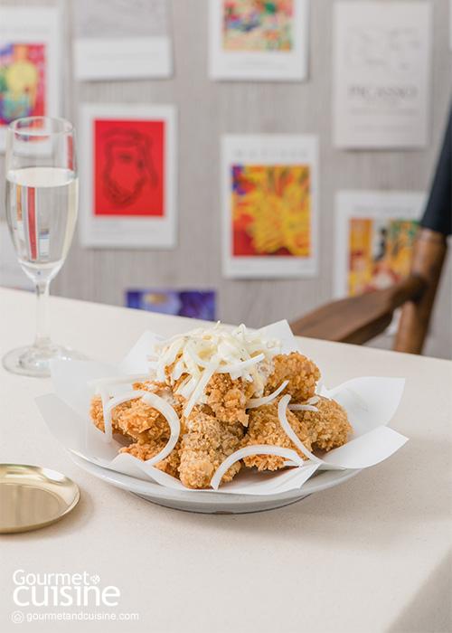 ไก่ทอดส โนว์ออนเนียนหรือไก่ทอดซอสหัวหอม รสเข้มข้น