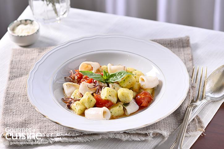อร่อยเมนูสุขภาพแบบอิตาเลียน ญอกกีมันฝรั่งกับปลาหมึก
