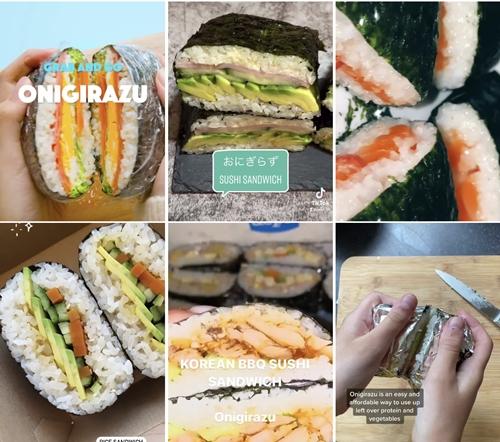 Onigirazu ข้าวห่อสาหร่ายแนวใหม่ที่สร้างสรรค์ไส้ได้หลากหลายและกำลังมาแรงใน TikTok