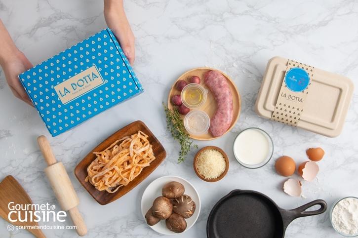 สนุกไปกับการครีเอตเมนูพาสตาจานพิเศษด้วย  DIY Pasta Kits by La Dotta