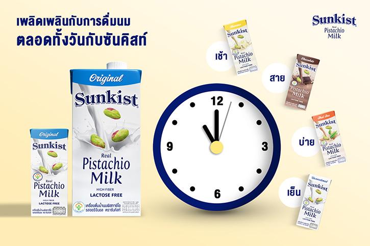 อร่อยเพลิดเพลินกับการดื่มนมตลอดทั้งวันไปกับซันคิสท์